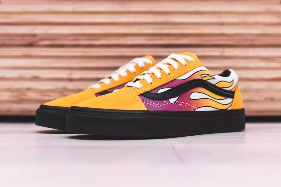 83e89dae6e Vans Heats up Winter With Flame Classics. Featuring the Old Skool ...
