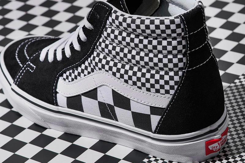 Vans New Checkerboard Print Collection Classic slip on authentic sk8-hi old skool