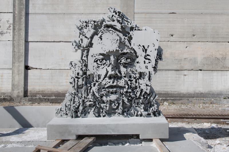 VHILS Alexandre Farto Over The Influence Gallery Art Artwork Exhibition Exhibit Installation Sculpture Street Art Graffiti Interview Q and A