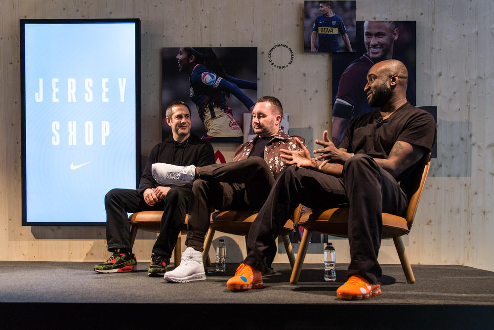 Virgil Abloh Kim Jones Interview Nike Jersey Shop Mercurial VaporMax Hybrid Soccer Kit Umbro