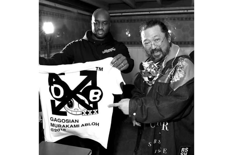 Virgil Abloh Takashi Murakami Future History Gagosian London Apparel T-Shirts Artwork
