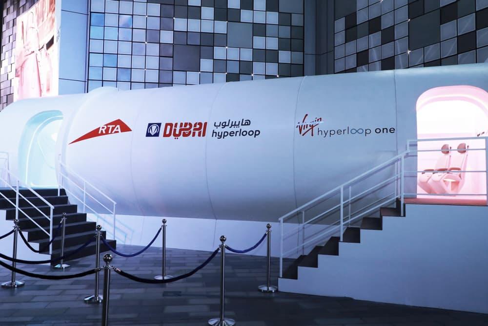 Virgin First Prototype Hyperloop One Passenger Pod Richard Branson Elon Musk Dubai Abu Dhabi