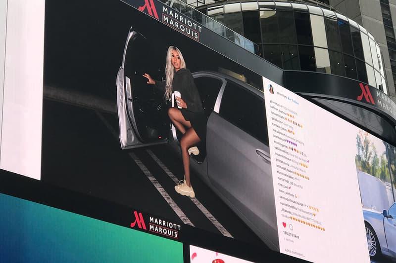 YEEZY Season 6 Kanye West Kim Kardashian Times Square Instagram