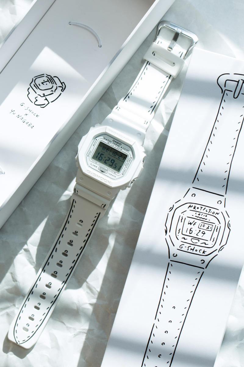 Yu Nagaba Casio G SHOCK BEAMS T Capsule Collection Collaboration watch DW 5600 casio tokyo japan artwork 2018 march drop release date
