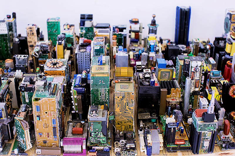 Zayd Menk NYC Scale Model Motherboards manhattan downtown hot glue sticks