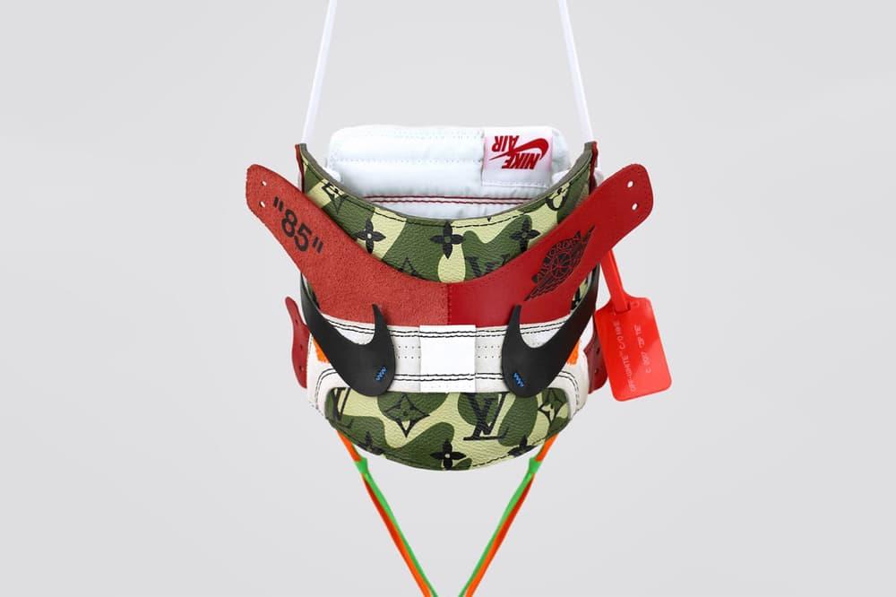 Zhijun Wang MURAKAMI ABLOH 2018 Air Jordan 1 Louis Vuitton Camo Sneaker Mask gagosian