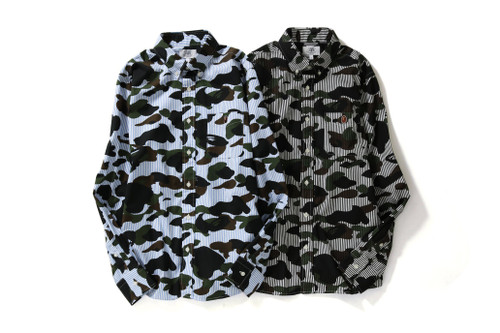 BAPE to Deliver 1ST CAMO STRIPE BD SHIRTS in Black & Blue