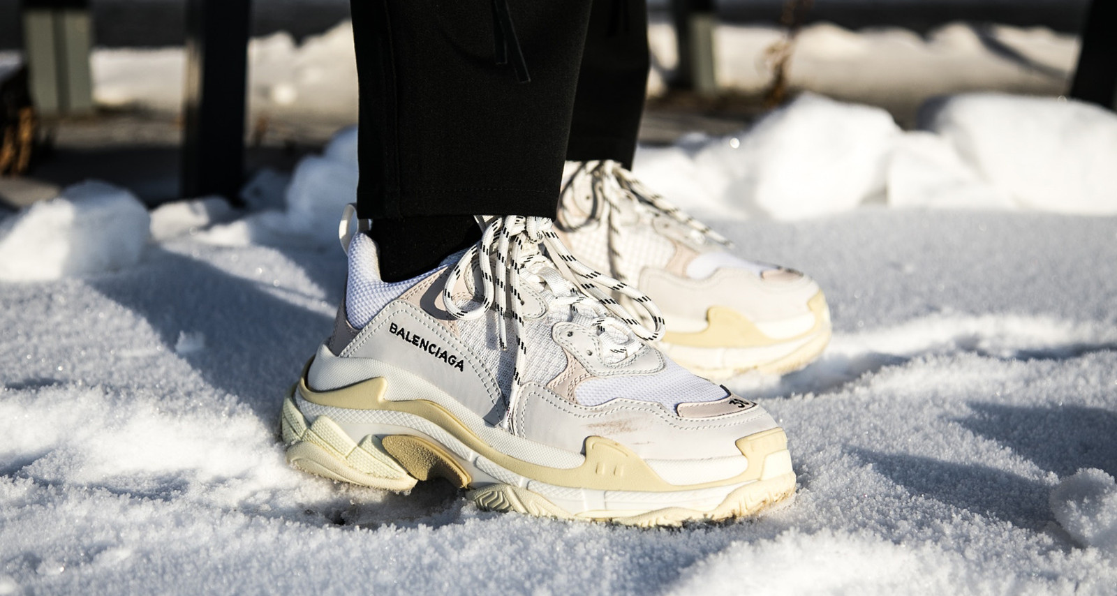 Chunky Sneakers Trend 2018 Balenciaga Triple S ... 7fad0aa8990a