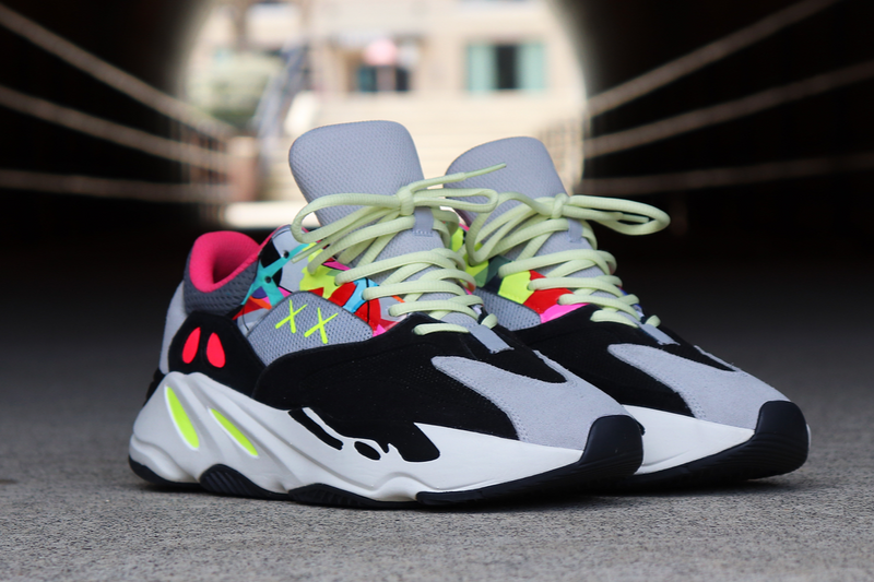 299719a9375 Kaws adidas Originals Yeezy Boost 700 Wave Runners Custom Sneakers Mens  Womens Street Woman Man Shoes