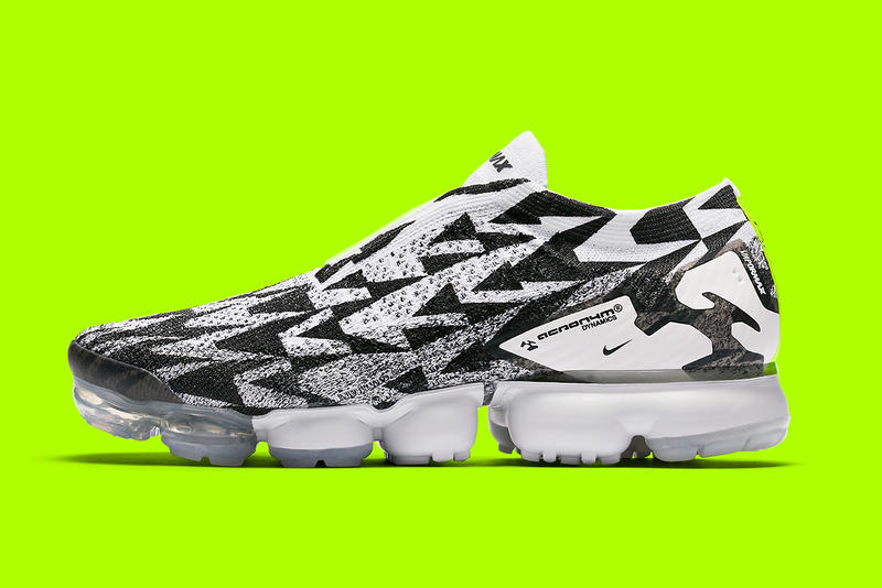 ACRONYM NikeLab New Images photos reveal release date info inforamtion Errolson Hugh footwear Nike Air vapormax Moc fk black white volt