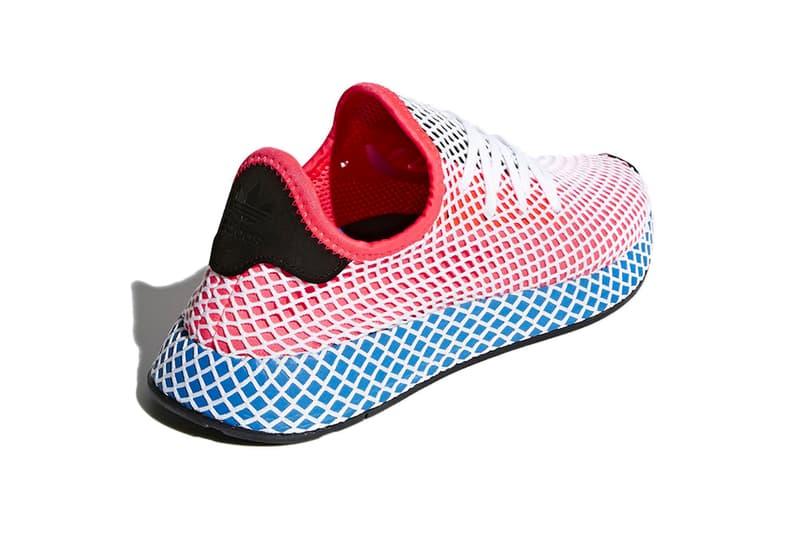 adidas Deerupt release info white black red blue mesh sneakers footwear