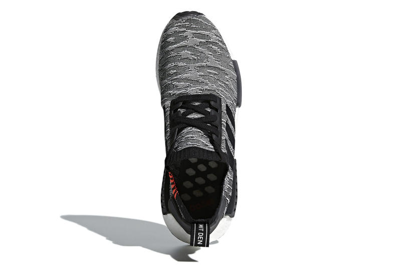 adidas NMD R1 Glitch Olive Black White March 15 Release Sneakers Footwear