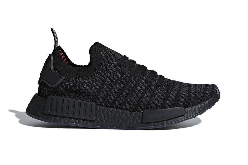 adidas NMD R1 Primeknit STLT Triple Black sneakers footwear spring 2018 6d3b23762