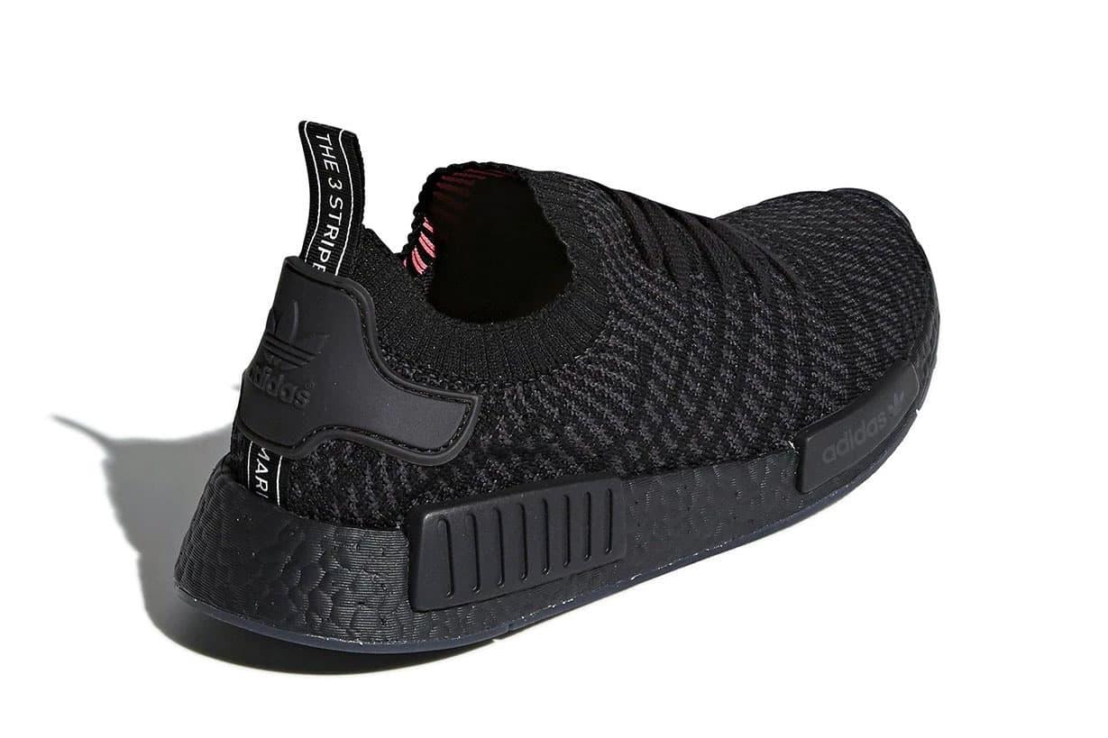 Adidas Nmd R1 Primeknit Stlt Triple Black Hypebeast