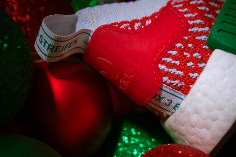 adidas Originals NMD R1 Primeknit STLT Christmas green red white