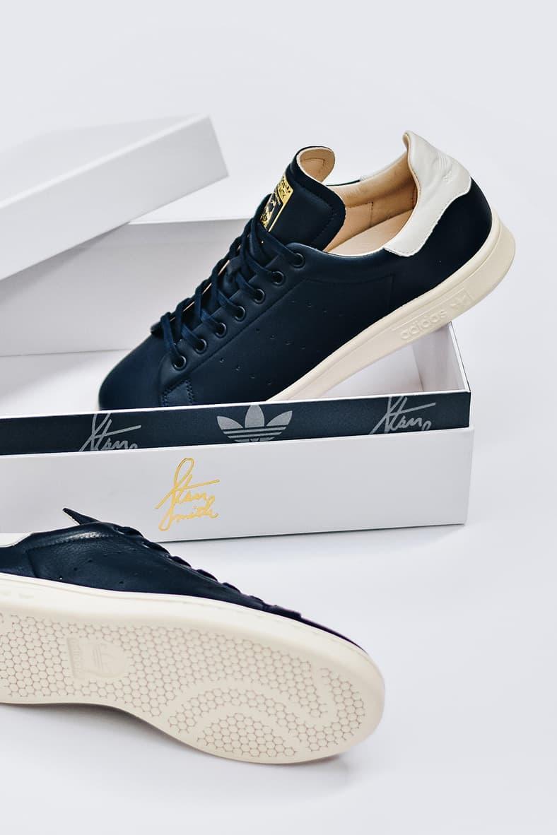 the best attitude 09035 1675f adidas Originals Stan Smith Recon navy white footwear 2018