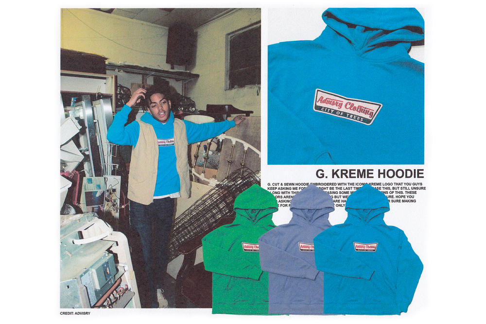 ADVISRY 5th Collection Designed Rooftop Lookbook Krispy Kreme Hoodie