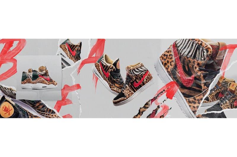 Air Jordan 1 3 Animal Print Pack the Shoe Surgeon sneakers Pony Hair Python Horween leather zebra cheetah leopard