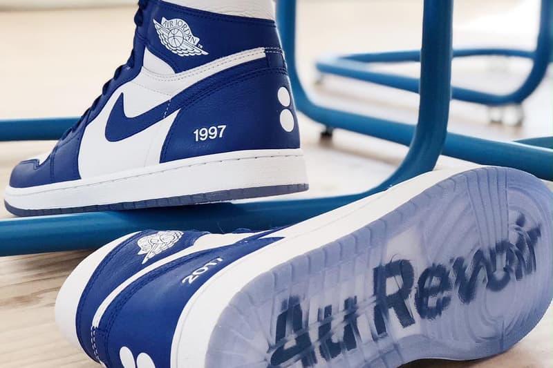 Nike Gifts colette Air Jordan 1 Au Revoir blue white special custom