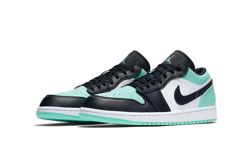Air Jordan 1 Low Atmosphere Emerald footwear 2018 Jordan Brand Michael Jordan release date info drop sneakers shoes
