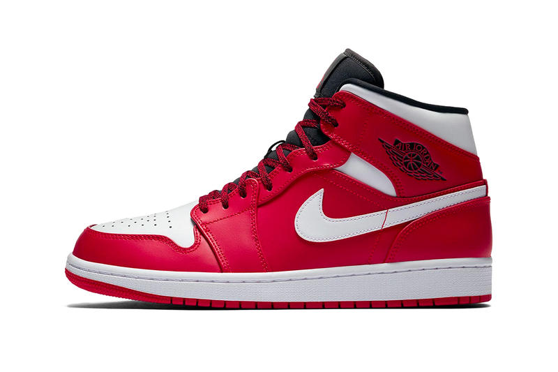 official photos abb9d 8d799 Air Jordan 1 Mid Gym Red White Black Jordan Brand sneakers footwear