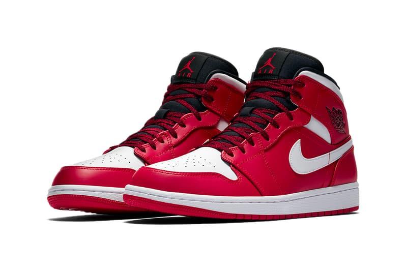 Air Jordan 1 Mid Gym Red White Black Jordan Brand sneakers footwear