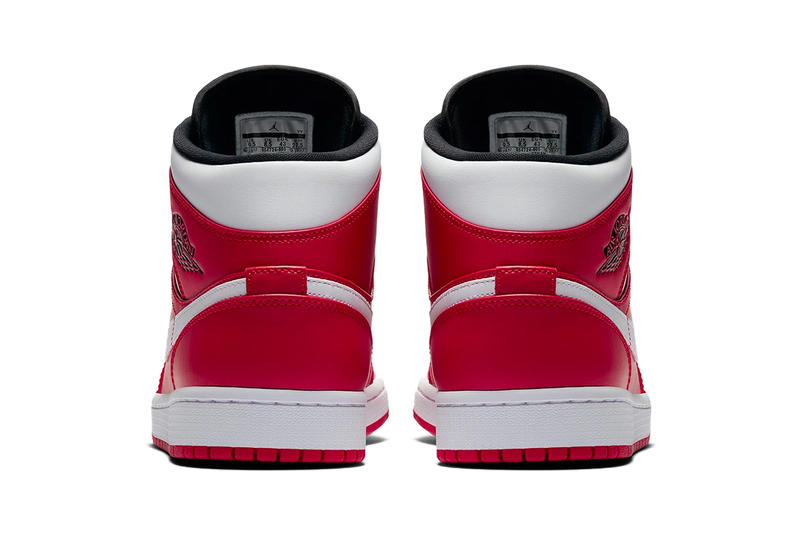 Air Jordan 1 Mid Gym Red White Black Jordan Brand sneakers footwear