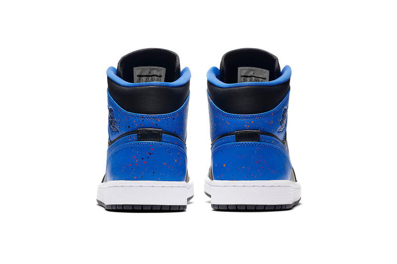 Air Jordan 1 Mid Royal Paint Splatter Release first look