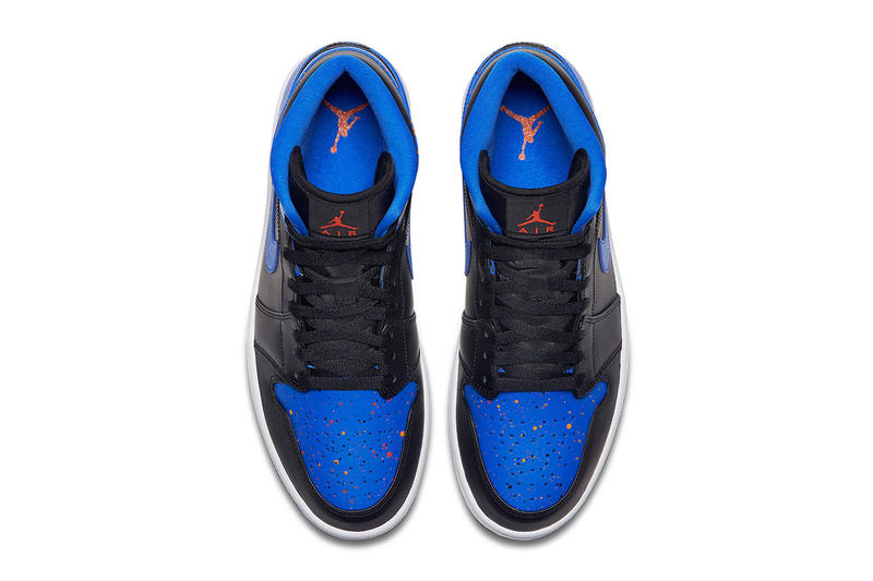 66f34822b803 Nike. Air Jordan 1 Mid Royal Paint Splatter Release first look