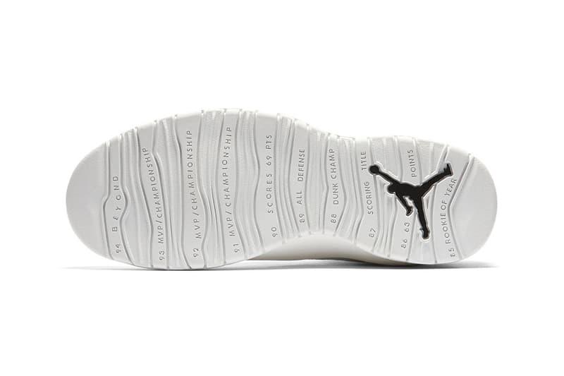 ce5135268da2 Air Jordan 10 I m Back Jordan Brand March 18 Release black white sneakers  footwear