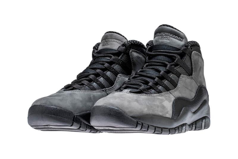 Air Jordan 10 Shadow Returns Next Month Jordan Brand Michael Jordan release dates april 2018 footwear