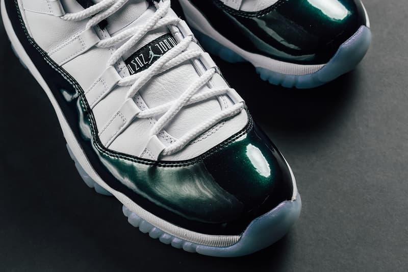 Air Jordan 11 Low Easter emerald green iridescent march 31 2018 release date info drop sneakers shoes footwear