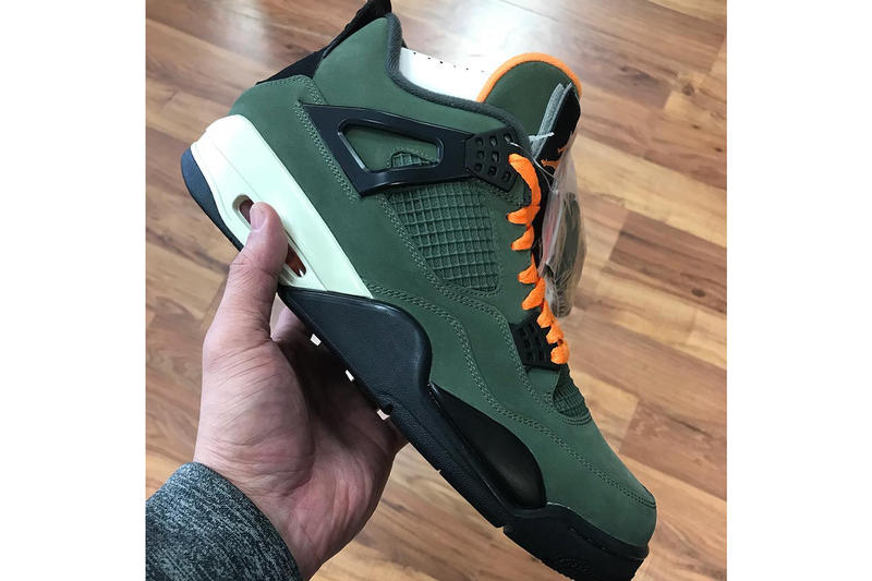 """Images of an Air Jordan 4 Retro """"Undefeated"""" Sample Has Surfaced"""