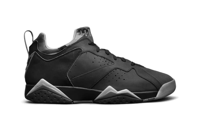 e68c708efd6630 Air Jordan 7 Low First Look Black Grey Jordan Brand sneakers footwear