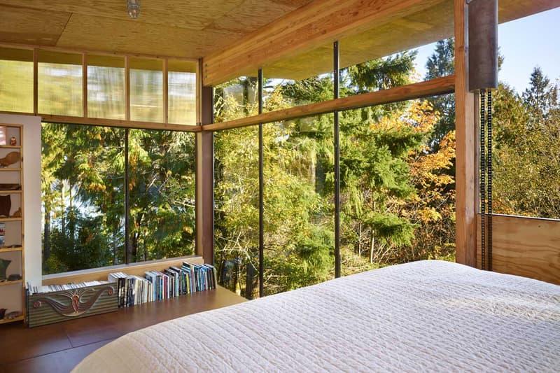 Artist's Studio Woods Forest Eerkes Architects Washington State Kitchen Living Area Sleeping Loft Steel Staircase Houses Homes