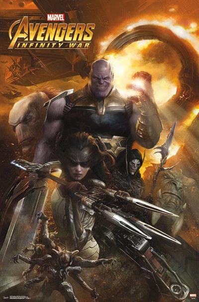 Avengers: Infinity War 'Black Order' Poster MCU thanos