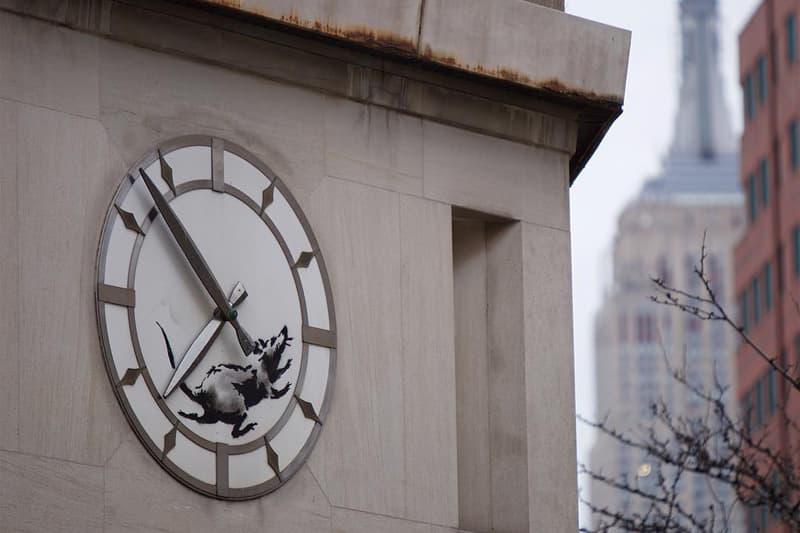 Banksy New York City rat art instagram march 15 2018