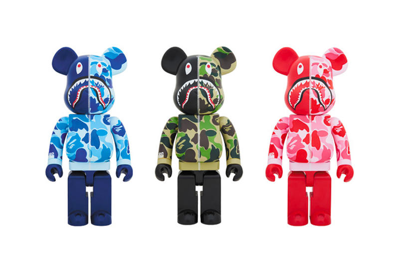 BAPE A Bathing Ape ABC CAMO Shark 1000% BE@RBRICK BEARBRICK Lottery