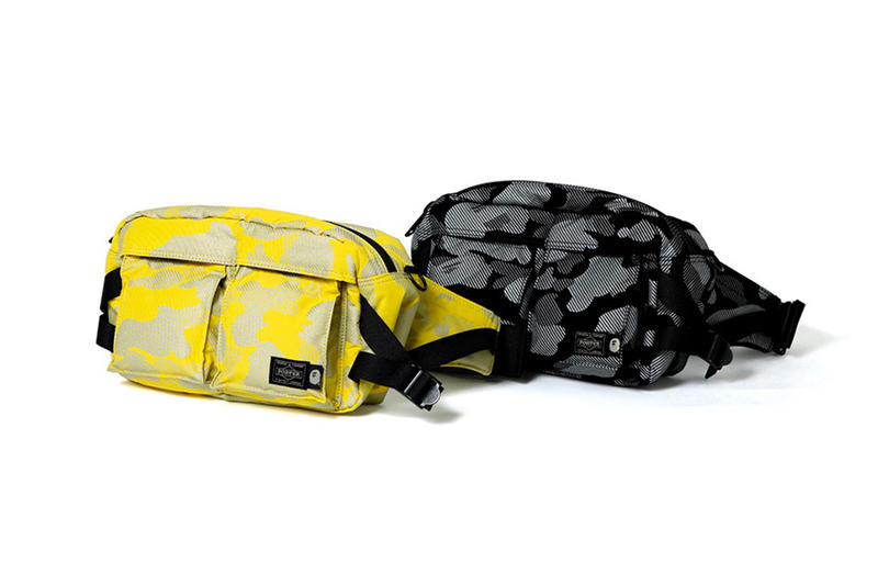 5822de7ced BAPE A Bathing Ape PORTER Reflection Camo Waist Bags yellow black