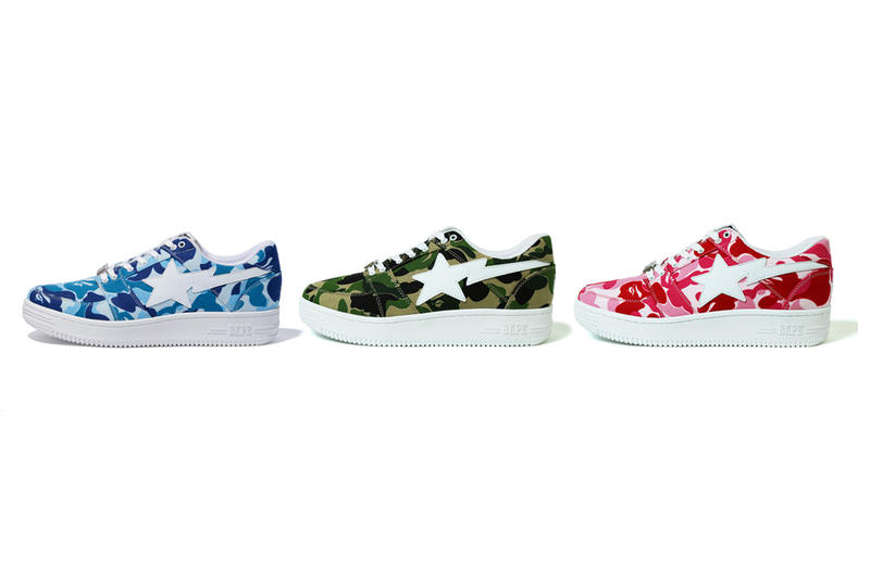 BAPE ABC CAMO New Colorways BAPESTA Sneakers Footwear A Bathing Ape