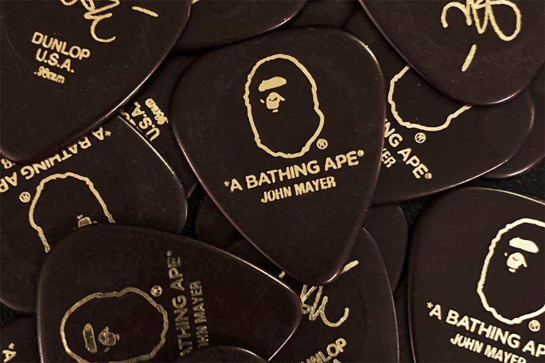 BAPE & John Mayer Team up on Co-Branded Guitar Picks