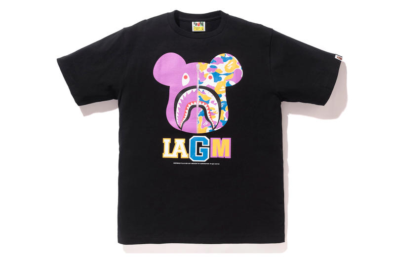 BAPE LA Bearbrick Collection A Bathing Ape Medicom Toy Los Angeles Shark Hoodie T-Shirt BE@RBRICK