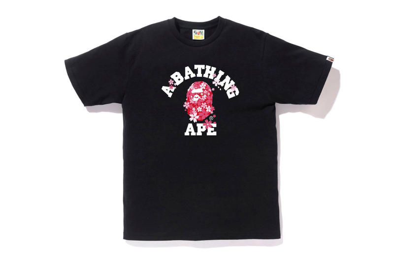 BAPE graphic t shirts tee spring summer 2018 bathing ape drop release collection japan march 31 2018 sakura branding logo a bathing ape