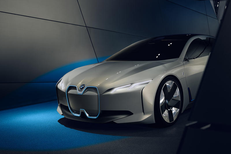 BMW i4 Electric Model 2025 Munich Germany iX3 MINI EV 0-100km/h 4 Seconds CO2 Emissions Reduced Harald Krüger Geneva Motor Show 2018