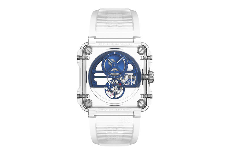 Bell & Ross X1 Skeleton Tourbillon Sapphire Watch Silver Pink Gold Blue Black Baselworld