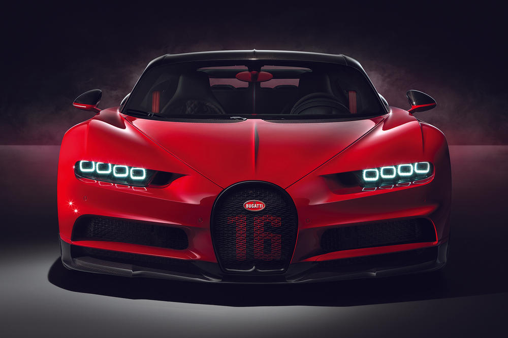 Bugatti Chiron Sport 2019 1479 Horsepower HP Carbon Fiber Windshield Wipers 3D Printed Aluminum Supercars