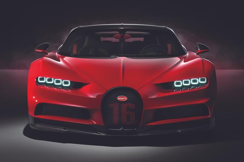 Bugatti Chiron Sport 2019 1479 Horsepower HP Carbon Fiber Windshield Wipers 3D-Printed Aluminum Supercars Alcantara