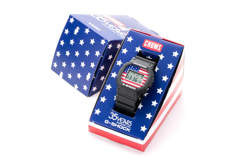 CHUMS Casio G SHOCK DW 5600 watch american flag march 2018 release date info drop
