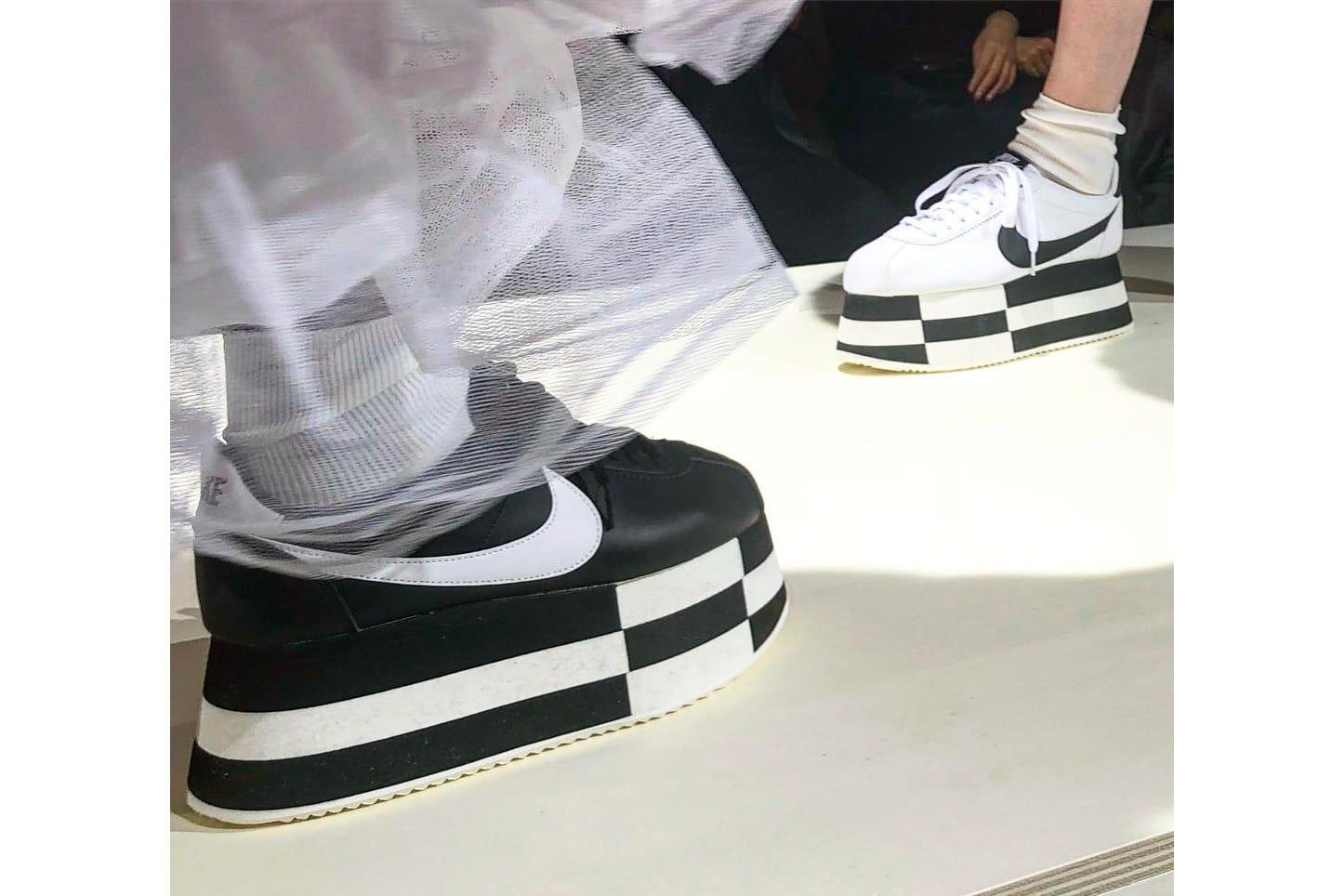 white nike platforms