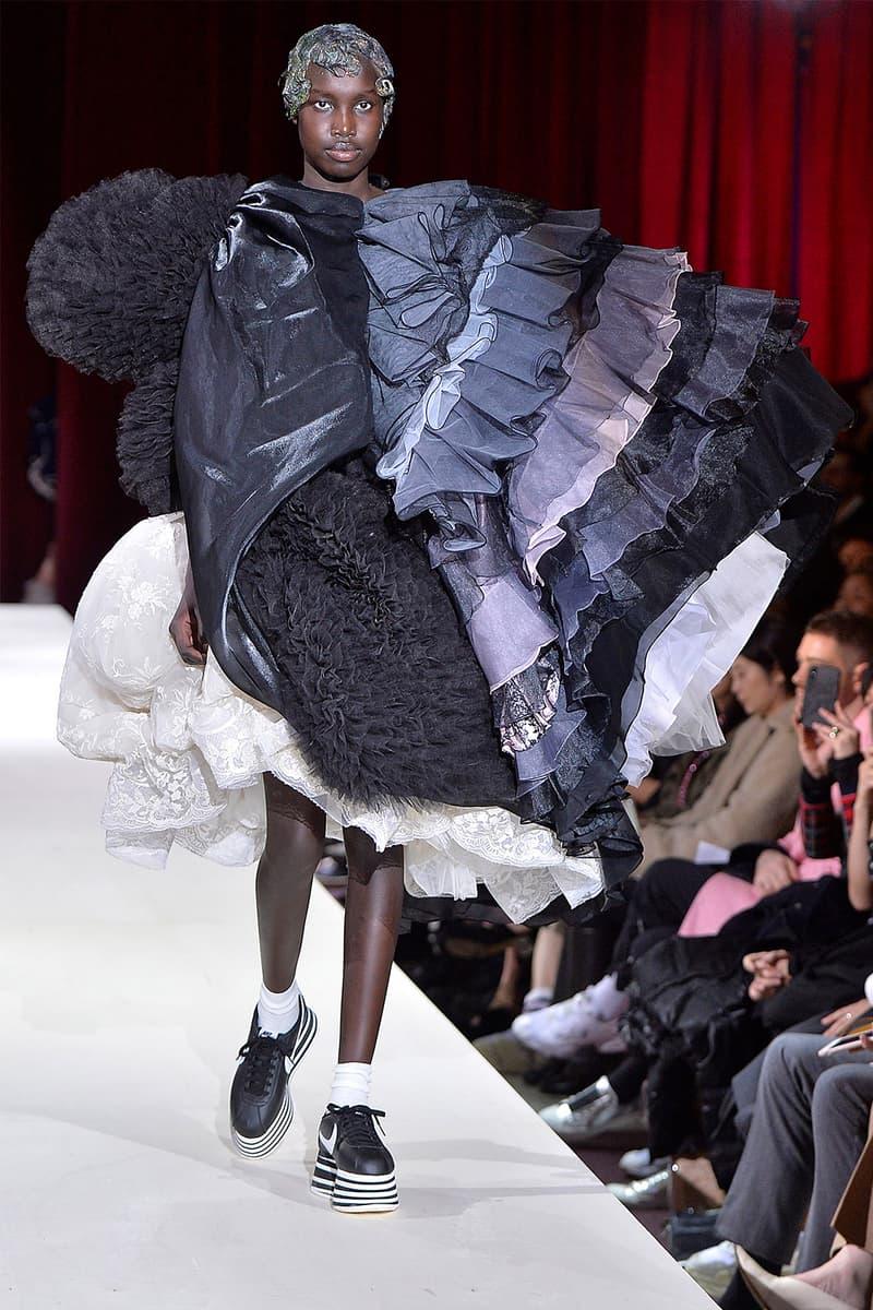 COMME des GARÇONS Nike Cortez Platform Sneakers Fall/Winter 2018 paris fashion week womenswear collection rei kawakubo